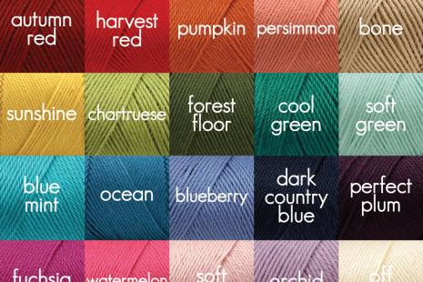 Yarn Color Options for Irish Rose Headband