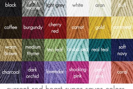 Yarn Color Options