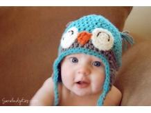 Happy Crochet Baby Owl Hat - Sarahndipities
