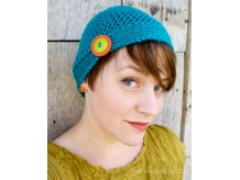 Crochet Button Beanie - Sarahndipities