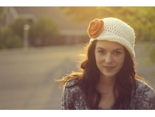 Crochet Flapper Hat with Flower - Sarahndipities