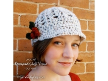 Crochet Brimmed Shell Beanie Pattern