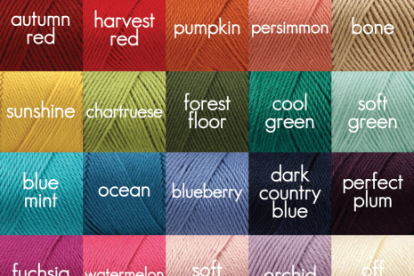 Yarn Color Options for Lacy Shawl