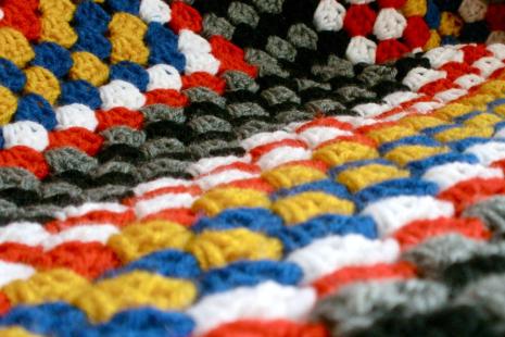 Custom Granny Square Afghan - Throw Blanket - You Choose Colors