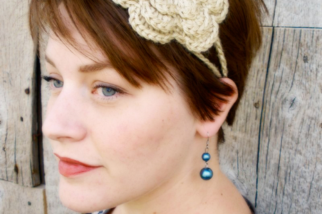 Crochet Irish Rose Headband - Sarahndipities