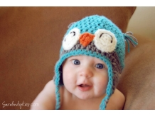 Happy Crochet Baby Owl Hat - Sarahndipities