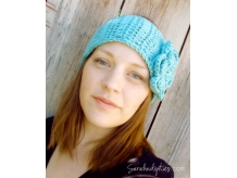 Crochet Boho Headband with Flower - Sarahndipities