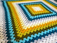 Custom Granny Square Afghan - Throw Blanket - You Choose Colors