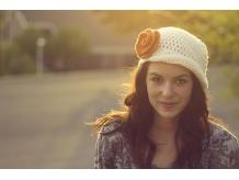 Women's Crochet Flapper Hat - Vintage 1920's Style Hat - Cloche Flapper Hat