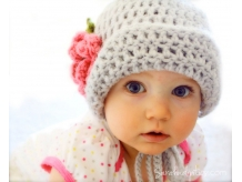Baby Crochet Flapper Hat with Flower - Sarahndipities