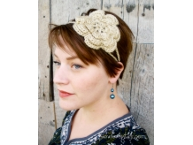 Crochet Irish Rose Headband - Sarahndipities