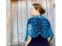 Crochet Lacy Caplet Shawl - Sarahndipities