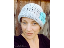 Crochet Flapper Hat with Flower