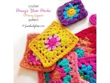Granny's Flower Garden - Crochet Granny Square Pattern