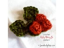 Crochet Holly Berry Pin Pattern