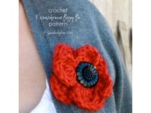 Crochet Remembrance Poppy Pattern