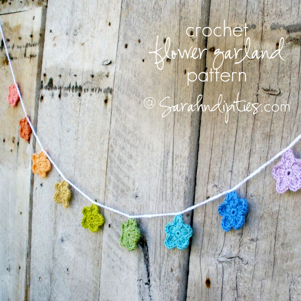 Things To Make Crochet Flower Garland Pattern Sarahndipities