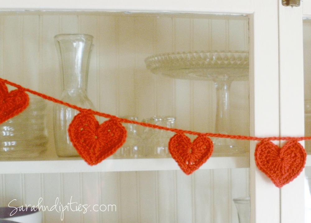 Things To Make Crochet Heart Garland Pattern Sarahndipities