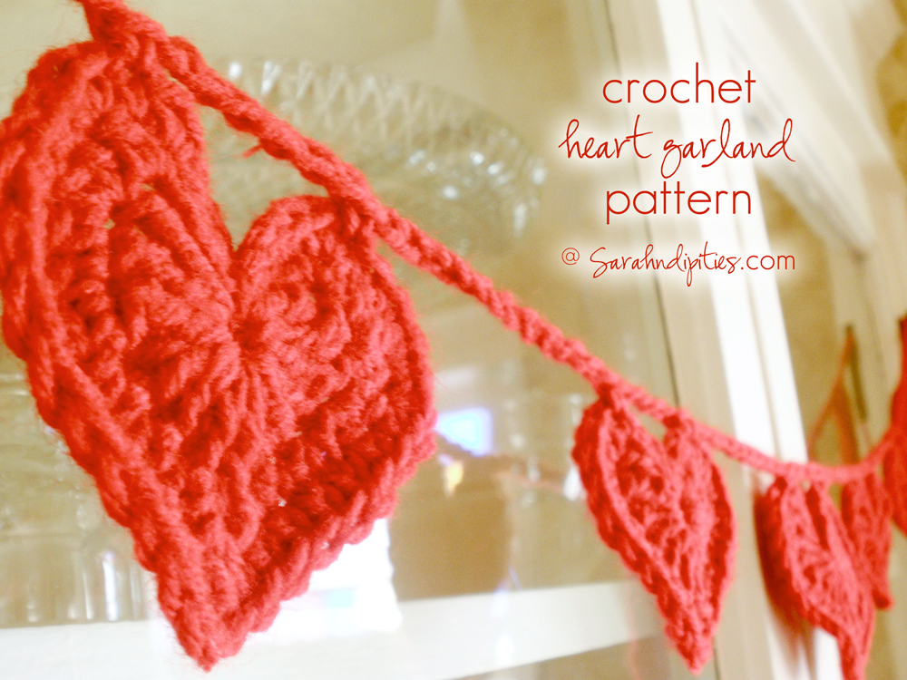 Things To Make Crochet Heart Garland Pattern Sarahndipities