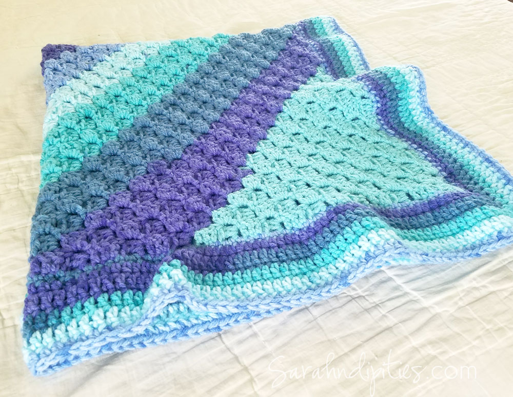 Pinterest Inspiration Ocean Waves Baby Blanket Sarahndipities Adorable Bernat Pop Yarn Patterns