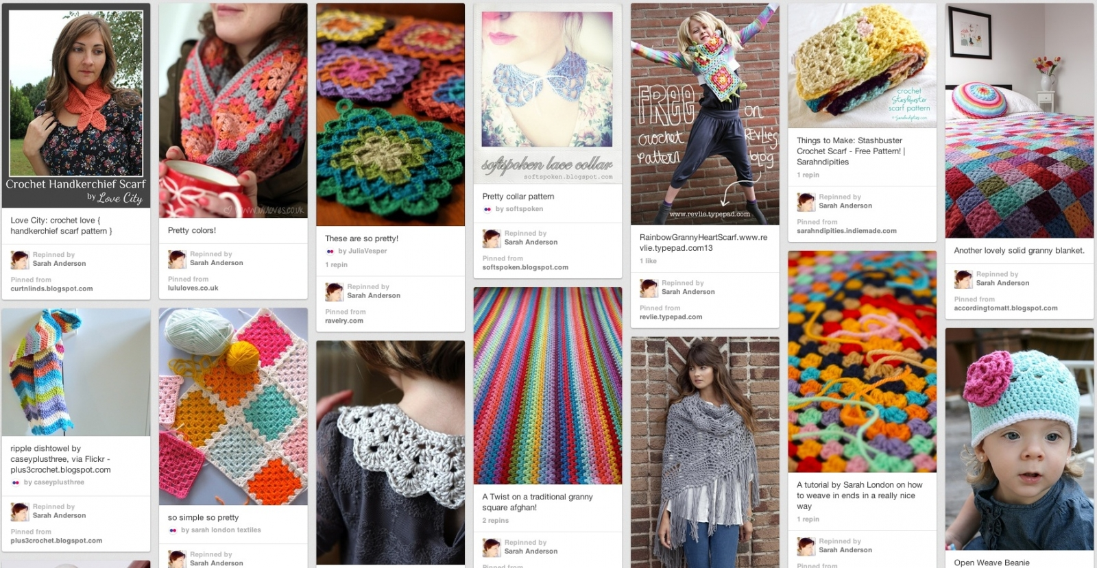 Pinterest inspiration ~ Crochet Love Sarahndipities