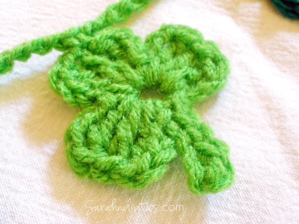 Crochet Shamrock Garland Free Pattern Sarahndipities