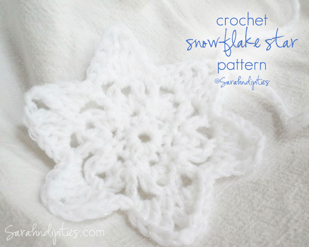 Things to Make: Crochet Snowflake Star Garland - Free ...