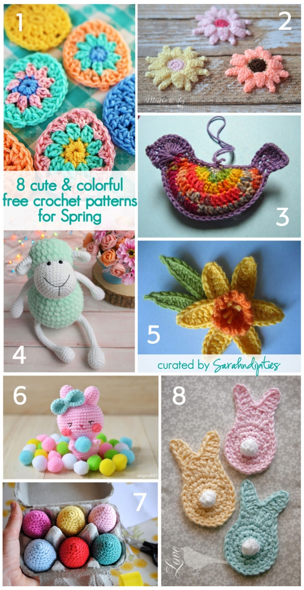 Feature Friday 8 Cute Colorful Free Crochet Patterns For Spring Sarahndipities